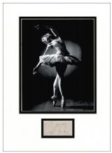 Margot Fonteyn Autograph Signed Display